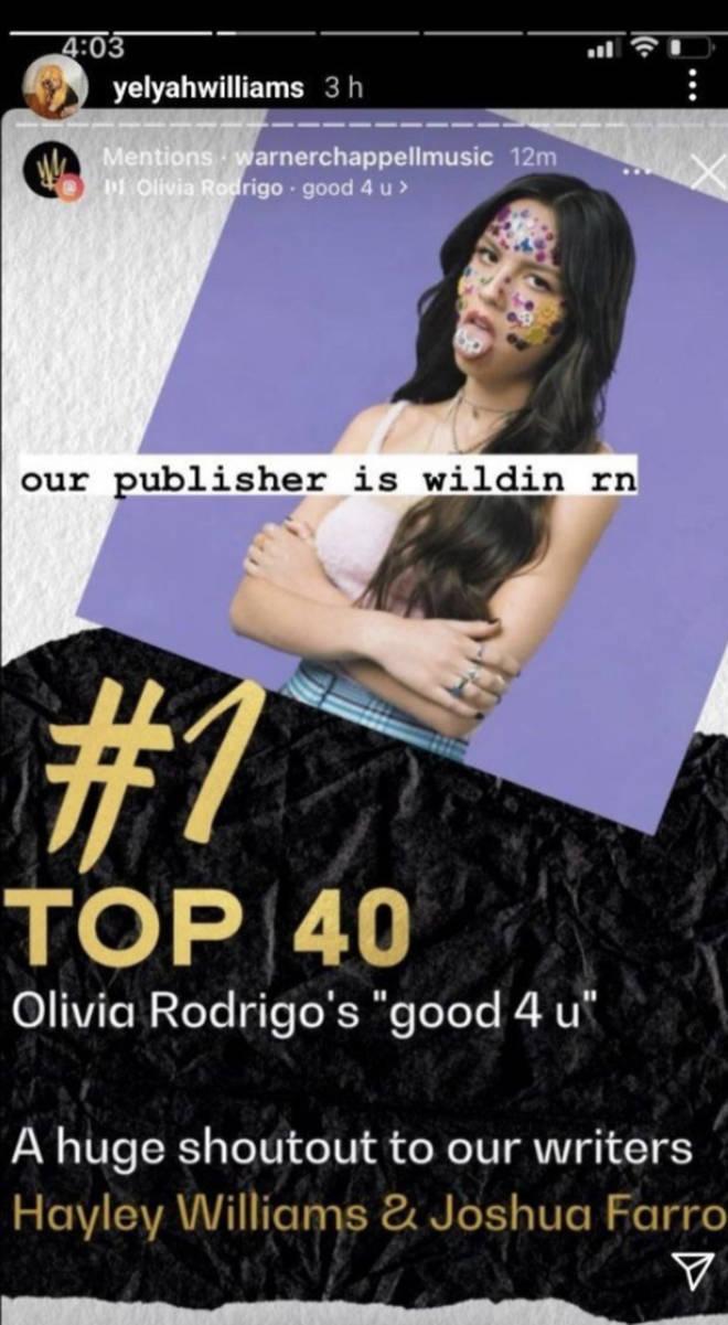 Hayley Williams responds to Olivia Rodrigo Good For U song credits