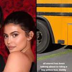 Kylie Jenner and Travis Scott criticised for surprising daughter Stormi with her own school bus