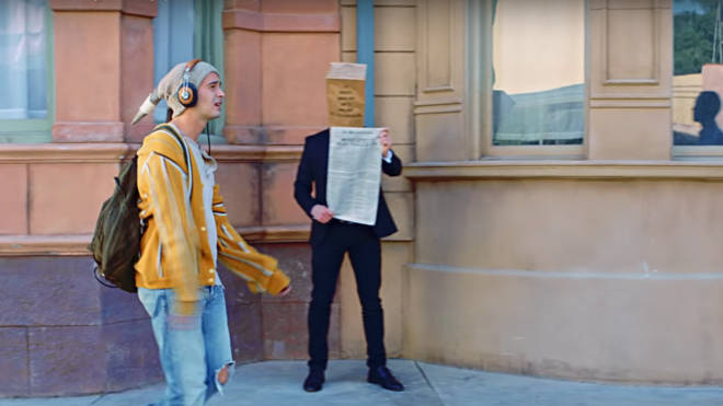The 1975 'Sincerity Is Scary' easter eggs. Paper bag.