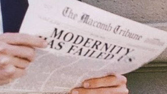The 1975 'Sincerity Is Scary' easter eggs. Newspaper.