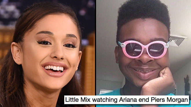 Ariana Grande and Little Mix versus Piers Morgan memes