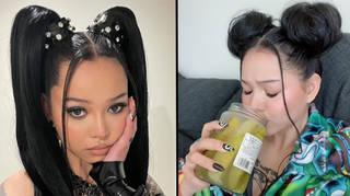 Bella Poarch drinks pickle juice straight from the jar in viral TikTok