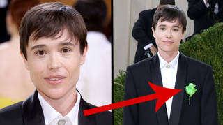 Elliot Page wears suit with powerful hidden meaning for first red carpet since coming out as trans