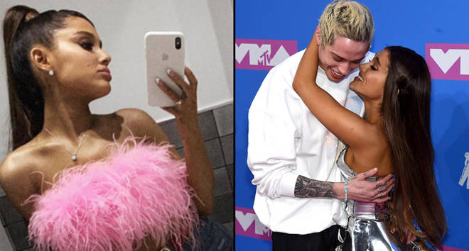 Ariana Grande mirror selfie/Pete Davidson and Ariana Grande attend the 2018 MTV Video Music Awards
