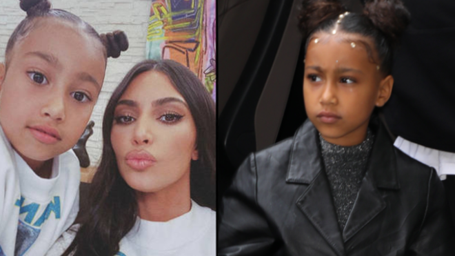 """Kim Kardashian says daughter North West is """"full goth"""" now"""