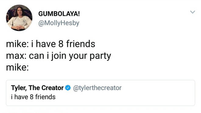 I have 8 friends 4