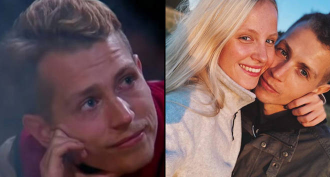 James McVey crying on I'm A Celebrity... Get Me Out of Here!/selfie with Kirstie Brittain