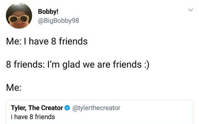 I have 8 friends 11