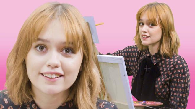 Sex Education Aimee Lou Wood paints a self-portrait