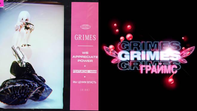 Grimes We Appreciate Power cover art