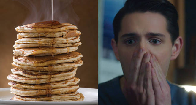 Pancakes with syrup or motor oil Kevin keller reaction