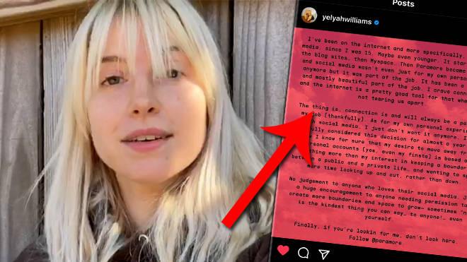 Hayley Williams has quit social media