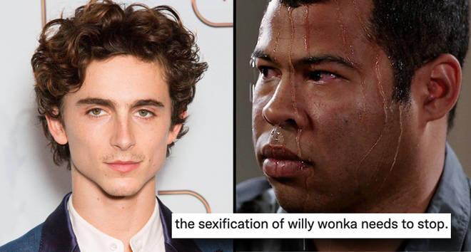 Everyone is thirsting Timothée Chalamet as Willy Wonka