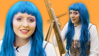 Ashnikko paints a self-portrait on Portrait Mode
