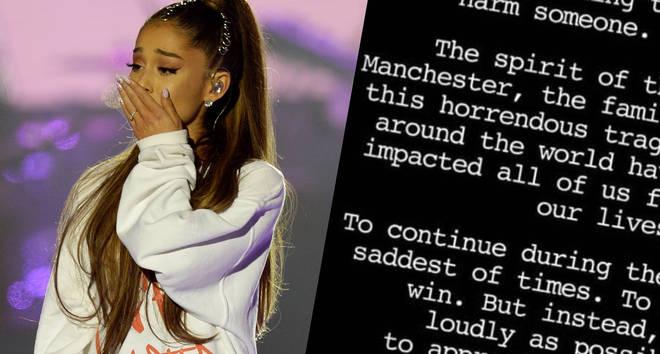 Ariana Grande Manchester letter