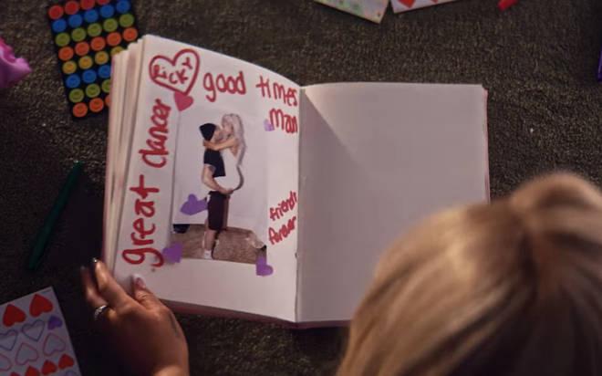 Ricky Alvarez's page in Ariana Grande's burn book