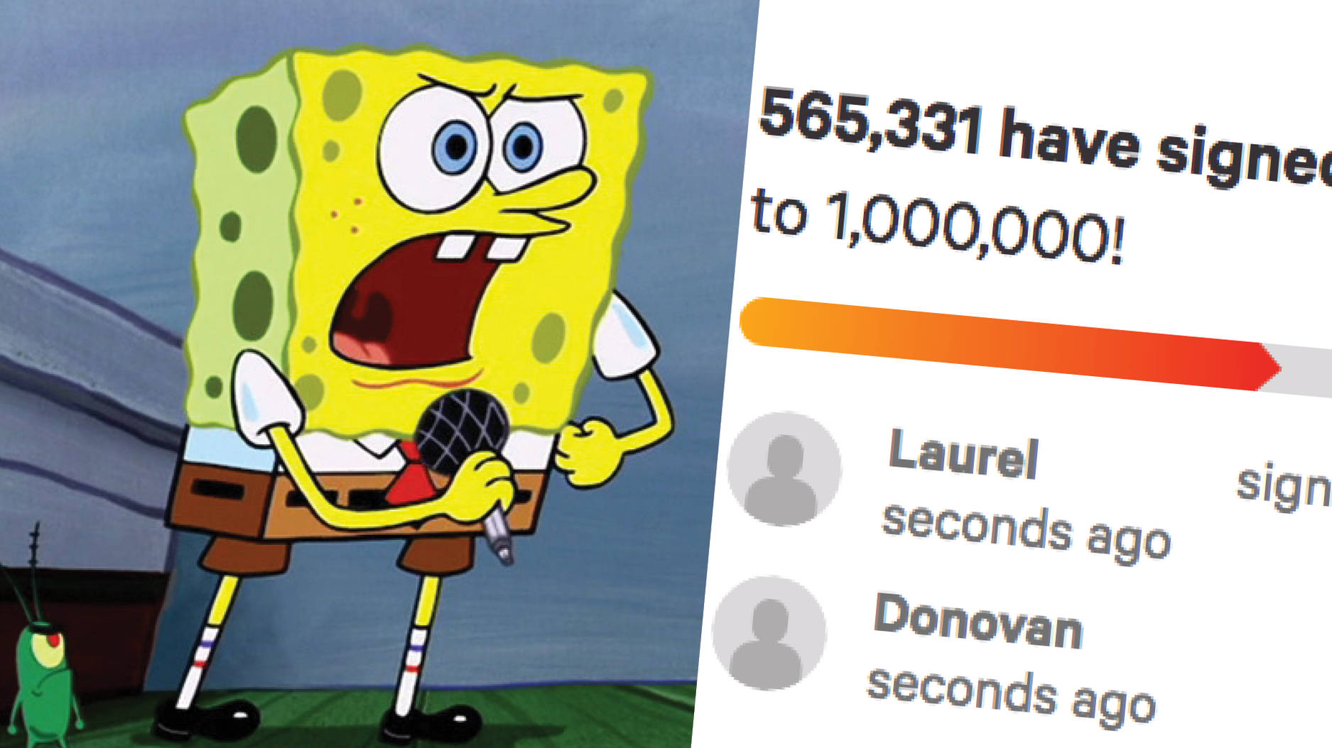 Over 500000 fans sign a petition for spongebobs sweet victory to