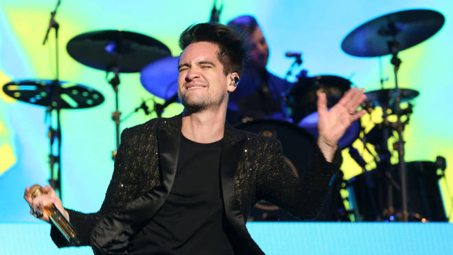 Brendon Urie of Panic! at the Disco performs live on stage during day two of Reading Festival at Richfield Avenue on August 25, 2018 in Reading, England. (Photo by Simone Joyner/Getty Images)