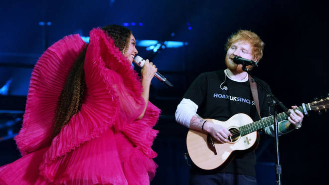 Beyoncé and Ed Sheeran outfit debate