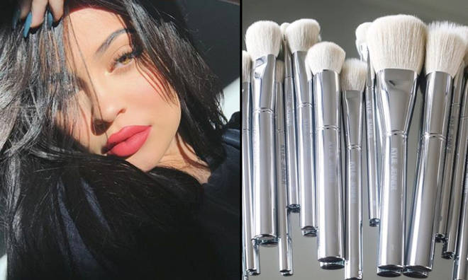 Kylie Jenner brushes