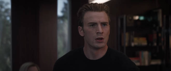 Captain America without a beard in Avengers: Endgame