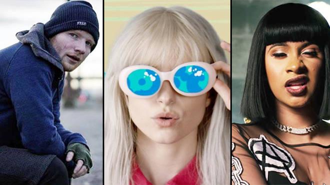 Ed Sheeran, Paramore, Cardi B