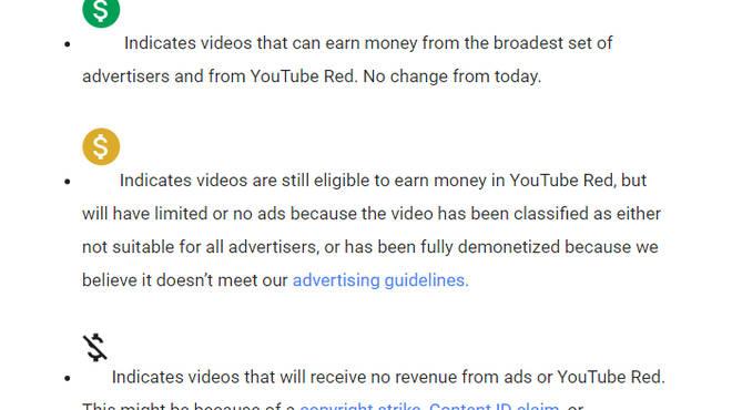 youtube demonetisation