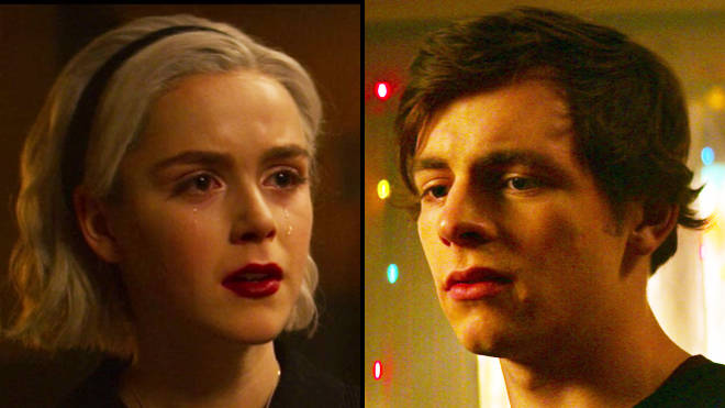 'Chilling Adventures of Sabrina': Harvey (Ross Lynch) and Sabrina (Kiernan Shipka)