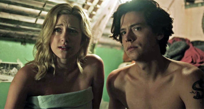 Betty Cooper and Jughead Jones in bed.