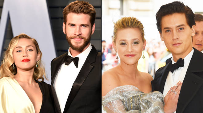 Miley Cyrus and Liam Hemsworth, Lili Reinhart and Cole Sprouse