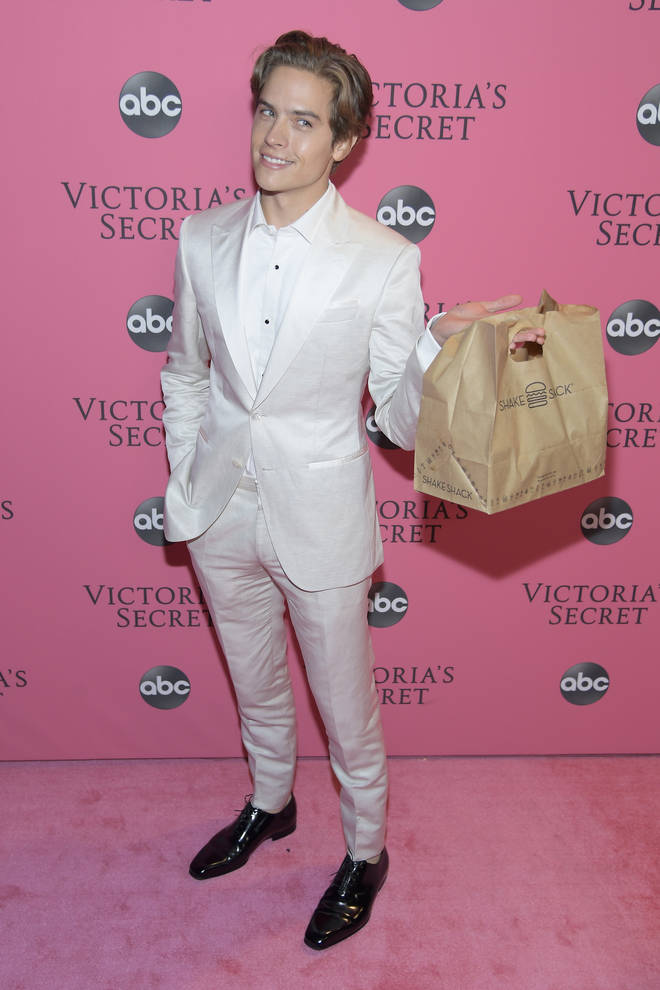 Dylan Sprouse attends the 2018 Victoria's Secret Fashion Show.