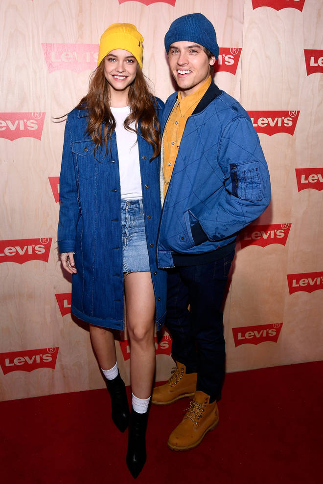 Barbara Palvin and Dylan Sprouse at Levi's Times Square Store Opening.