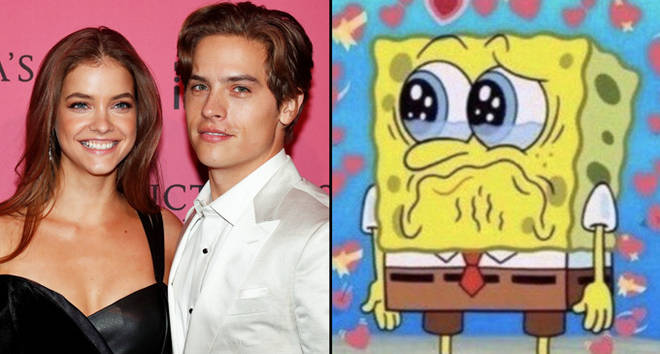 Barbara Palvin and Dylan Sprouse at the Victoria's Secret Fashion Show/Spongebob crying