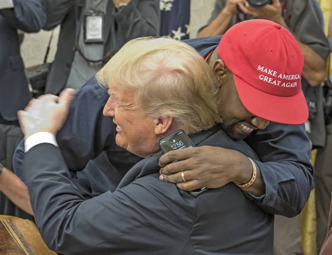 Kanye West and Donald Trump in The White House.