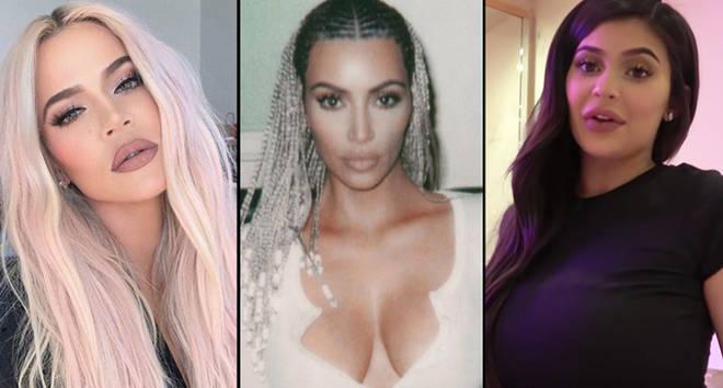 Khloe Kardashian/Kim Kardashian with braids/Kylie Jenner pregnancy