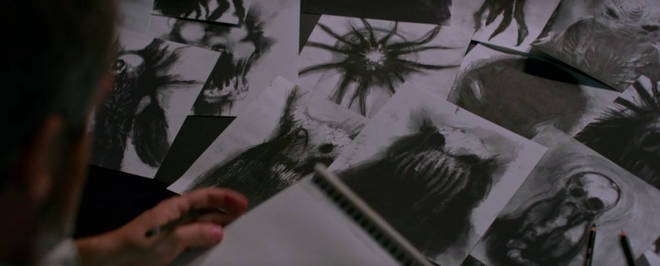 Gary's drawings of the monsters in Bird Box were nothing like the actual creature