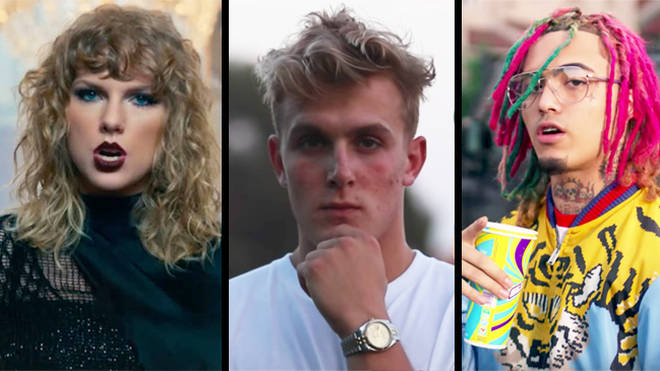 Taylor Swift, Jake Paul, Lil Pump