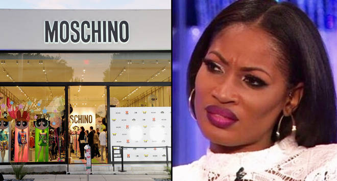 A view of the atmosphere at The Powerpuff Girls x Moschino Launch Event at Moschino Store/Erica Dixon disgusted