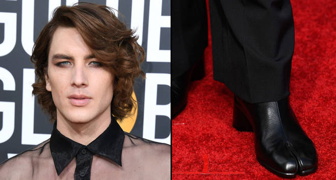 """Everyone is losing it over Cody Fern's """"hoof"""" boots at the Golden Globes."""