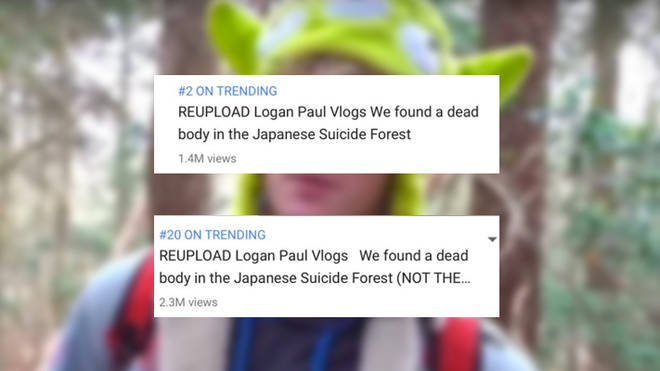 Logan Paul's 'suicide forest 'video continues to trend on YouTube in the form of re-uploads