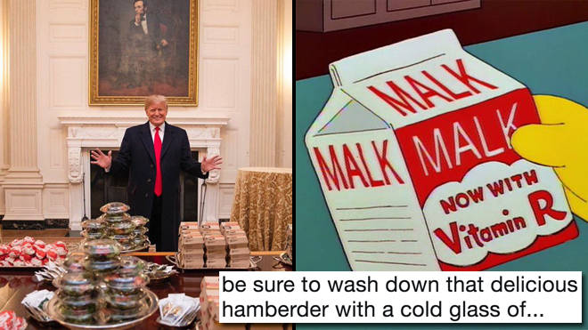 "The funniest Donald Trump fast food ""hamberder"" memes"