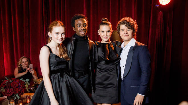 Sadie Sink, Caleb McLaughlin, Millie Bobby Brown, Gaten Matarazzo