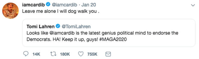 Cardi B and Tomi Lahren dog walk