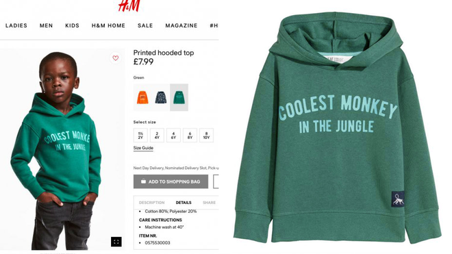 828dc1d2784d H M Is CANCELLED After Being Forced To Remove A Racist Hoodie From ...