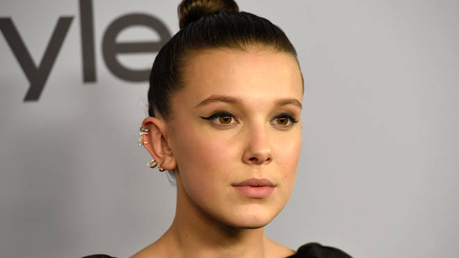 Millie Bobby Brown Golden Globes Red Carpet