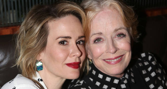 Sarah Paulson and Holland Taylor pose at the Opening Night After-party for 'Ripcord' at The Brasserie