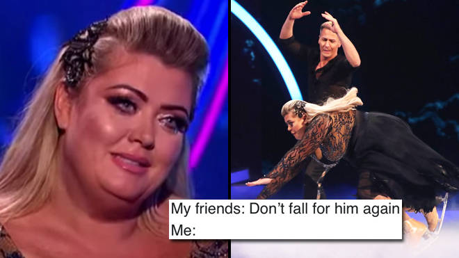 The best Gemma Collins fall on Dancing on Ice memes