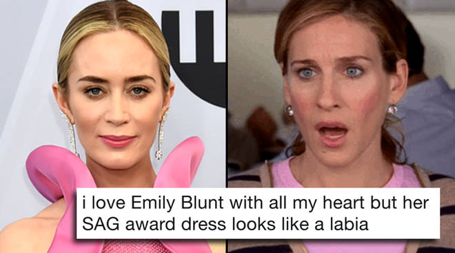 Emily Blunt's SAG Awards dress is being roasted on Twitter