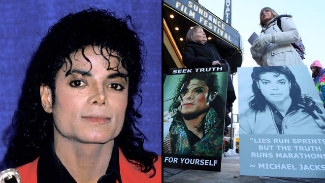 Michael Jackson fans at Sundance protesting the Leaving Neverland documentary