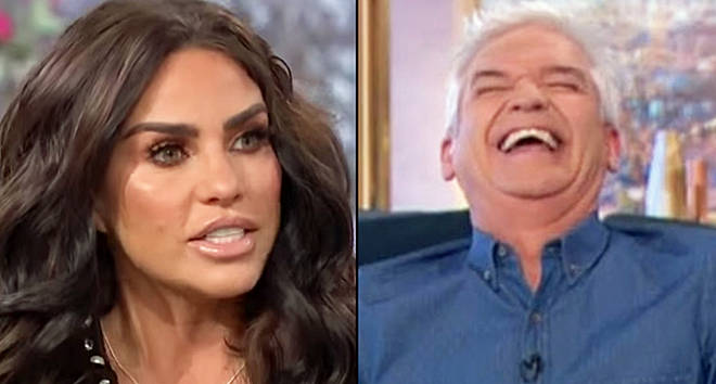 Katie Price on This Morning/Phillip Schofield laughing